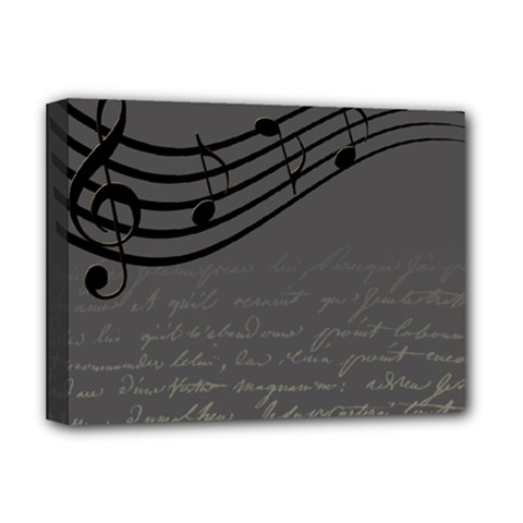 Music Clef Background Texture Deluxe Canvas 16  x 12