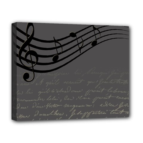 Music Clef Background Texture Deluxe Canvas 20  x 16