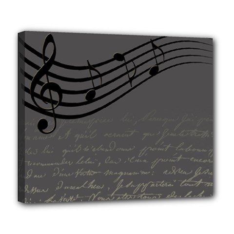 Music Clef Background Texture Deluxe Canvas 24  X 20