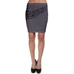 Music Clef Background Texture Bodycon Skirt