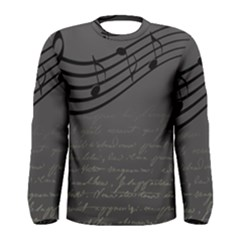 Music Clef Background Texture Men s Long Sleeve Tee