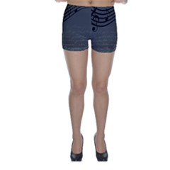 Music Clef Background Texture Skinny Shorts