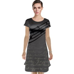 Music Clef Background Texture Cap Sleeve Nightdress