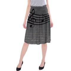 Music Clef Background Texture Midi Beach Skirt