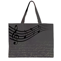Music Clef Background Texture Large Tote Bag