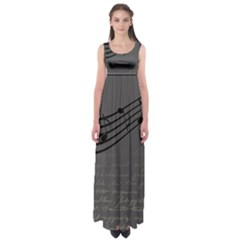Music Clef Background Texture Empire Waist Maxi Dress