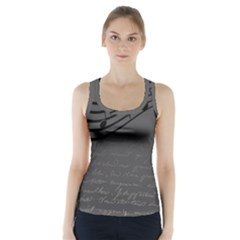 Music Clef Background Texture Racer Back Sports Top