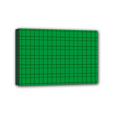 Pattern Green Background Lines Mini Canvas 6  x 4