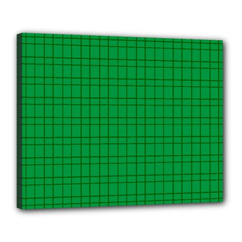 Pattern Green Background Lines Canvas 20  x 16