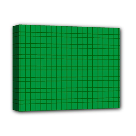 Pattern Green Background Lines Deluxe Canvas 14  X 11