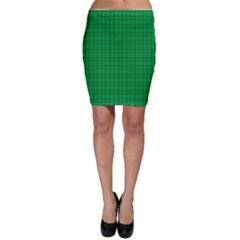 Pattern Green Background Lines Bodycon Skirt