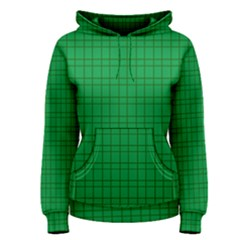 Pattern Green Background Lines Women s Pullover Hoodie