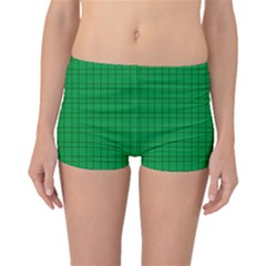 Pattern Green Background Lines Boyleg Bikini Bottoms