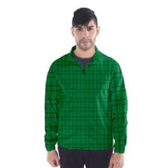 Pattern Green Background Lines Wind Breaker (men)