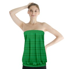 Pattern Green Background Lines Strapless Top