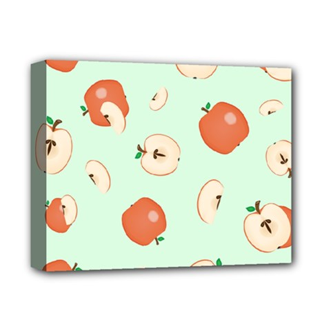 Apple Fruit Background Food Deluxe Canvas 14  x 11