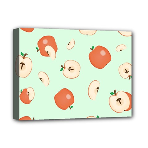 Apple Fruit Background Food Deluxe Canvas 16  x 12