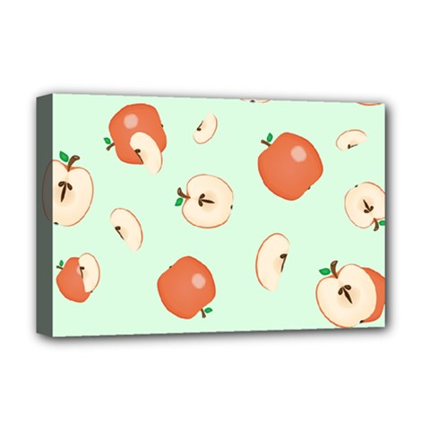 Apple Fruit Background Food Deluxe Canvas 18  x 12