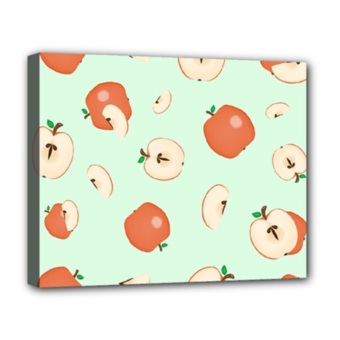 Apple Fruit Background Food Deluxe Canvas 20  X 16