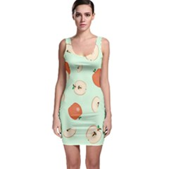 Apple Fruit Background Food Sleeveless Bodycon Dress