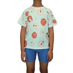 Apple Fruit Background Food Kids  Short Sleeve Swimwear