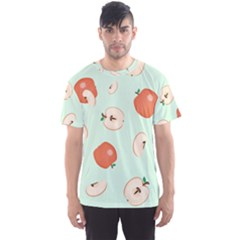 Apple Fruit Background Food Men s Sport Mesh Tee
