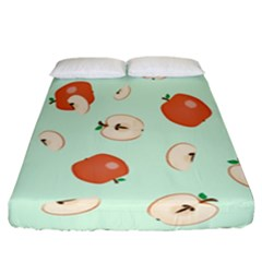 Apple Fruit Background Food Fitted Sheet (california King Size)