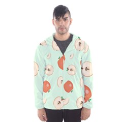 Apple Fruit Background Food Hooded Wind Breaker (men)