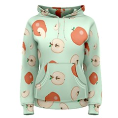 Apple Fruit Background Food Women s Pullover Hoodie