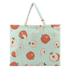 Apple Fruit Background Food Zipper Large Tote Bag
