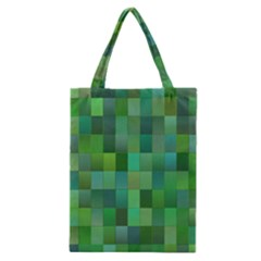 Green Blocks Pattern Backdrop Classic Tote Bag