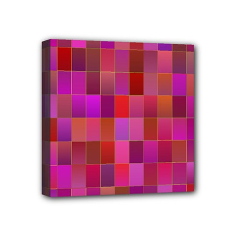 Shapes Abstract Pink Mini Canvas 4  x 4