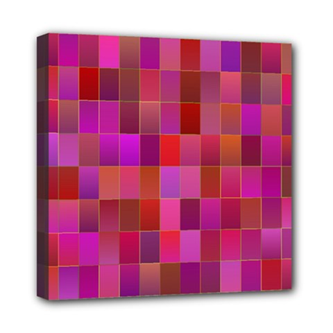 Shapes Abstract Pink Mini Canvas 8  x 8