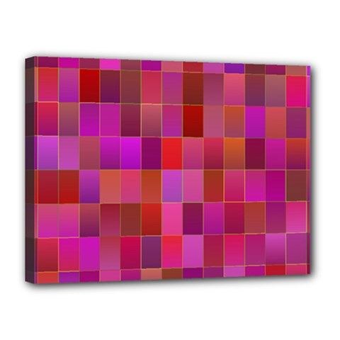 Shapes Abstract Pink Canvas 16  x 12