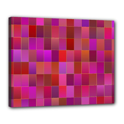 Shapes Abstract Pink Canvas 20  x 16