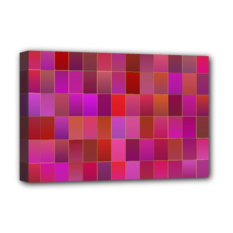 Shapes Abstract Pink Deluxe Canvas 18  x 12