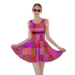 Shapes Abstract Pink Skater Dress