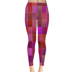 Shapes Abstract Pink Leggings