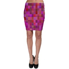 Shapes Abstract Pink Bodycon Skirt