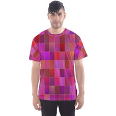 Shapes Abstract Pink Men s Sport Mesh Tee
