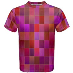 Shapes Abstract Pink Men s Cotton Tee