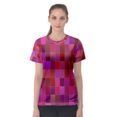 Shapes Abstract Pink Women s Sport Mesh Tee