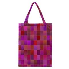 Shapes Abstract Pink Classic Tote Bag
