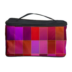 Shapes Abstract Pink Cosmetic Storage Case