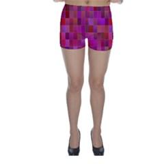 Shapes Abstract Pink Skinny Shorts