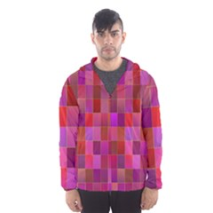 Shapes Abstract Pink Hooded Wind Breaker (men)