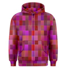 Shapes Abstract Pink Men s Zipper Hoodie
