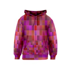 Shapes Abstract Pink Kids  Zipper Hoodie