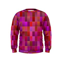 Shapes Abstract Pink Kids  Sweatshirt