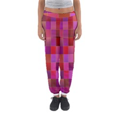 Shapes Abstract Pink Women s Jogger Sweatpants